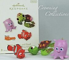 2008 Hallmark Finding Nemo Squirt and Pearl Pixar Ornament Set of 3 Minis Disney