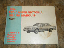 1991 FORD LTD CROWN VICTORIA MARQUIS ELECTRICAL & VACUUM SERVICE MANUAL WIRING