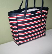Tommy Hilfiger Womens Tote Purse Beach Bag Handbag Faux Saffiano Leather $99 NWT