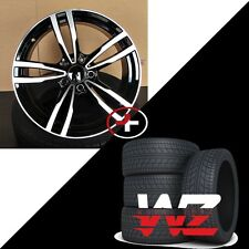 19 inch 433 Style Wheels w Tires Black Machined Fits BMW 1 2 3 4 Series 128 325