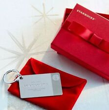 Starbucks 2014 Sterling Silver Gift Card $50 Canadian On Card Christmas Gift!��