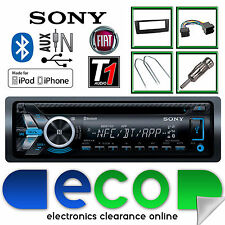 Fiat Grande Punto Sony mex-n4000bt Cd Mp3 Usb Bluetooth Iphone Kit De Radio Negro