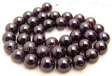 SALE Big 11-12mm Round High quality natural garnet gemstone Beads-l329 free ship