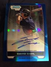David Dahl 2012 Bowman Chrome Draft Blue Refractor Auto 136/150 Colorado Rockies