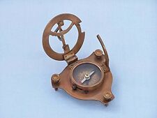 Antique Brass Triangle Sundial Compass 3''