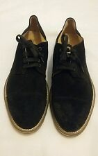BOEMOS Made in italy Black Suede Leather Derby Lace-up Shoe size uk 9.5 eu 44