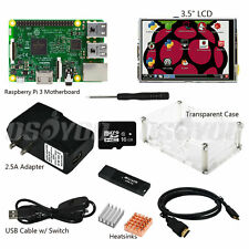 "10 in 1 Raspberry Pi 3 Starter Kit w/ RPI 3 Mainboard + 3.5"" LCD Display w/ Case"