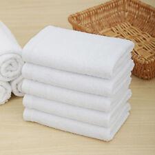 """100% Cotton Hand Bath Towel Terry Salon SPA Hotel Beach White 11.8"""" x 27.5"""""""