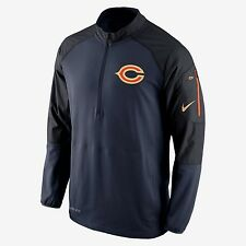 NIKE CHICAGO BEARS CHAMPIONSHIP DRIVE 1/2 ZIP TRAINING JACKET MENS SIZE LARGE