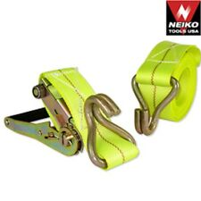 "3 New Neiko 2""x20' Ratchet Tie Down Tow Strap J Hook Heavy Duty Towing"
