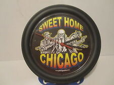 Sweet Home Chicagol Clock Hanging Wal Gangster Skull Man Cave Advertising Tattoo