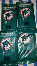 4 miami Dolphins  Hooded Rain Poncho NFL --ONE SIZE FITS MOST