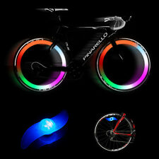 Colorful LED Bicycle Bike Cycling Wheel Valve Spoke Wire Tyre Bright Flash Light