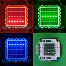 20W RGB Red Green Blue High Power Bright Full Color LED Lamp Light 20Watt COB