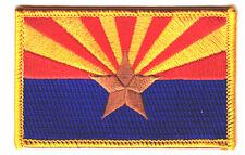 ARIZONA STATE FLAG w/GOLD BORDER - Iron On Embroidered Patch /Flag of Arizona