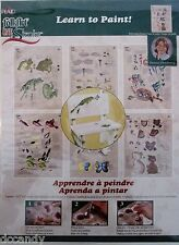 Donna Dewberry One Stroke Learn to Paint Worksheets 6 Designs Garden Friends