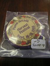 """Payne & Arcade Harvest Festival 1988 Sold in As/Is Condition - 2 1/8"""" BUTTON #10"""