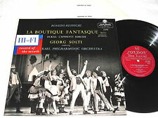 "Solti ""Rossini-Respighi:La Boutique Fantasque""1957 LP,VG++!,London LL.1715,1A/2A"