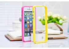 Bumper Frame Rubber Gel Silicone Case Skin Cover For Apple iPhone 5 5S--Yellow