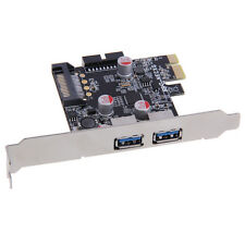 SuperSpeed 2-Port USB 3.0 PCI-E PCI Express Card Adapter 19-pin for XP Vista New
