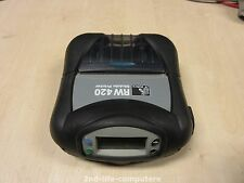"Zebra RW420 R4D-0UBA000E Mobile Ticket Receipt Printer DT 4"" USB Bluetooth EX PS"