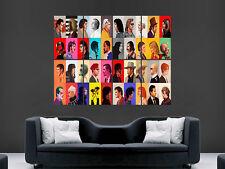 Cartel de la película de televisión actores leyendas clásicas de gran gran Pared Arte Collage