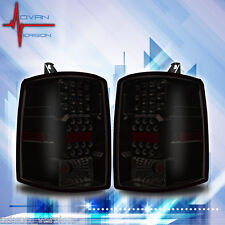 1997-1998 Jeep Grand Cherokee LED Tail Lights Black Smoke Lens Rear Lamps PAIR