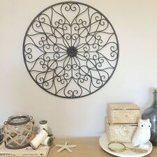 Decorative Curls Round Metal Wall Panel/Garden Art/Wall Decor Sculpture Outdoor