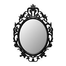 Ornate decorative wall mirror. BLACK frame.