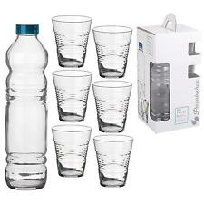 7Pc Drinking Beverage Glasses Tableware High Ball Tumbler Cup Jug Decanter Set