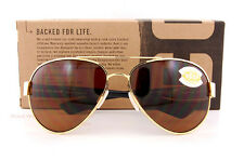 New Costa Del Mar Fishing Sunglasses SOUTH POINT Gold Brown 580P POLARIZED