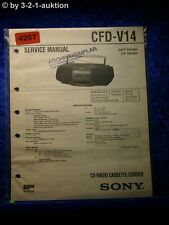 Sony Service Manual CFD V14 Cassette Corder (#4287)