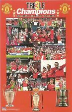 TREBLE CHAMPIONS MANCHESTER UNITED Original Starline Poster MINI Promo Piece 3x5