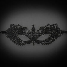 Lace Masquerade Mask, Inspired Anastasia Lace Mask for Women LM0601 (Black)