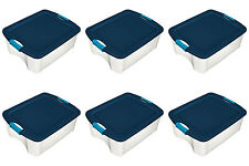 Sterilite 18 Gallon Latch and Carry Storage Tote Containers (6 Pack) 14469606