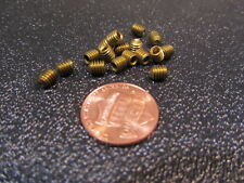 "Brass Set Screws, Cup Point, 8-32 x 3/16"" Length, 100 Pieces"