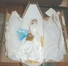 "FRANKLIN HIERLOOM MINT PRINCESS GRACE BRIDE PORCELAIN 16"" DOLL NIB"
