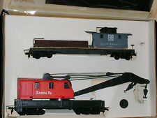 TYCO ** ATSF 200 TON CRANE CAR & TENDER ** SANTA FE ** HO Scale Train *mint*
