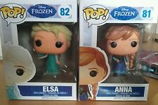 Frozen Funko pop elsa and anna vinyl figure x 2 peices