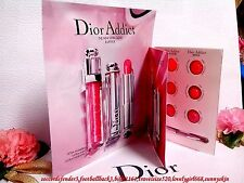 *Dior* Addict Lipstick & Lip Gloss Card - With Brush FREE POST! ** Beautiful **