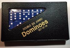 Double Six Jumbo Blue Dominoes w/ FREE Shipping