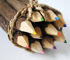 TWIG COLOURING PENCILS SET OF 10 DIFFERENT COLOURS wooden fair trade handmade