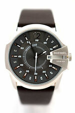 DIESEL MEN'S DZ1206 Gray Dial Brown Leather Bracelet