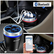 Bluetooth Handsfree FM Transmitter MP3 Player +3-USB Charger +2-Cigarette Lighte