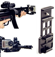Cantilever Picatinny Weaver Gun Mount Plate Fr 20mm Rail GoPro Hero 4 3 + Camera