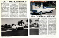 1964 CANADIAN VALIANT   ~   NICE 8-PAGE ARTICLE / AD