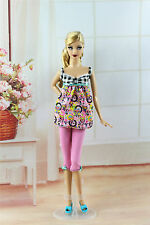 2in1 Lovely Fashion Casual Wear Clothes/Outfit Top+Pants For Barbie Doll M109U