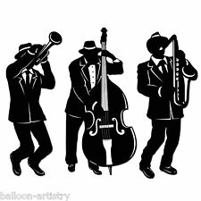 3 Mardi Gras Carnival Party JAZZ Musicians Trio Silhouettes Cutout Decorations