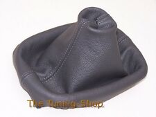 FITS VW VOLKSWAGEN PASSAT B5 FL 01-05 GEAR GAITER DARK GREY LEATHER COVER BOOT