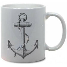 ANCHOR COFFEE MUG! nautical ocean vtg antique rockabilly pirate classic mermaid